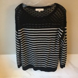 GUC Loft Size L Sweater with Lace detail